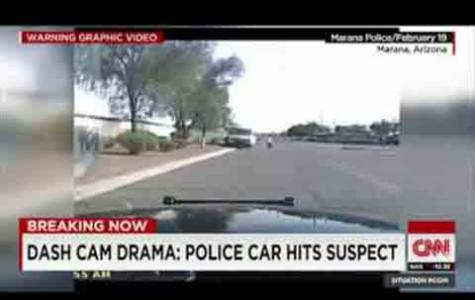 Policeman runs over Suspect