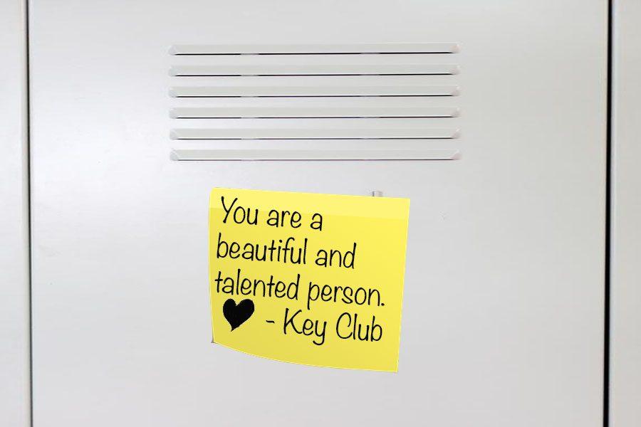 Key Club Makes Lockers Brighter