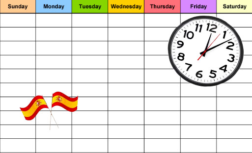 Spain School Schedule
